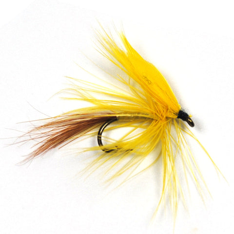 Fly - 6 Pieces, Yellow Fan Wing Dry Fly
