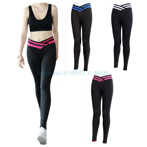 Performance Clothing - Yoga Pants, Women Elastic Wicking Exercise Tights