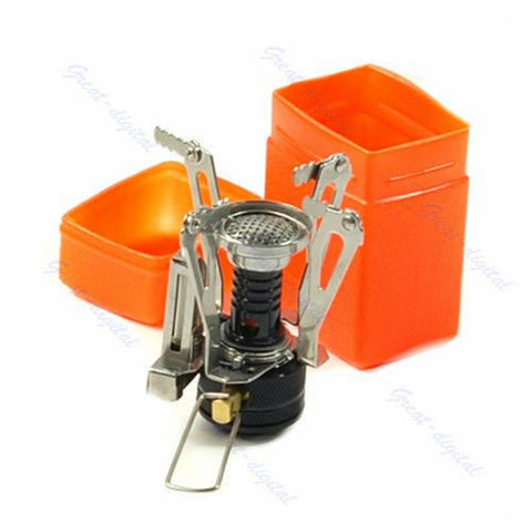 Mini Camping Stove, Folding With Case
