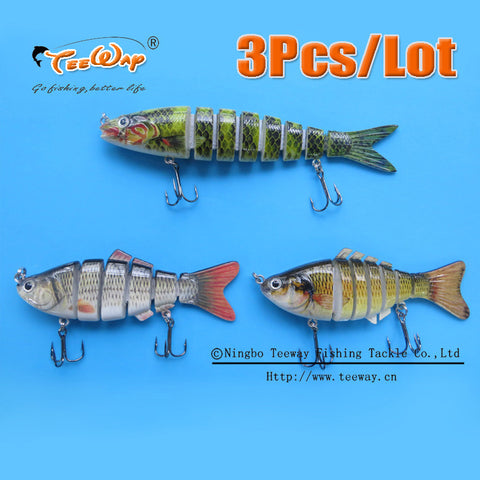 3 Piece Pack - 6 Segment, 7 Segment and 8 Segment Swimbaits Crankbaits Hard Baits