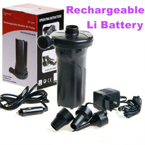Heavy Duty Electric Air Pump with Rechargeable Lithium Battery