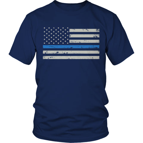 Tees & Sweats - Limited Edition T-shirt Hoodie Tank Top - Thin Blue Line Police Flag