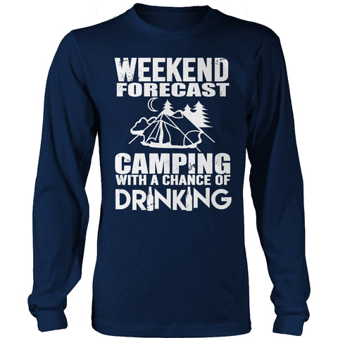 Tees & Sweats - Limited Edition T-shirt Hoodie - Weekend Forecast Camping