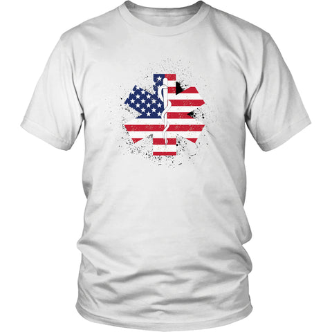 Tees & Sweats - Limited Edition T-shirt & Tank Top- EMT Flag Star Of Life