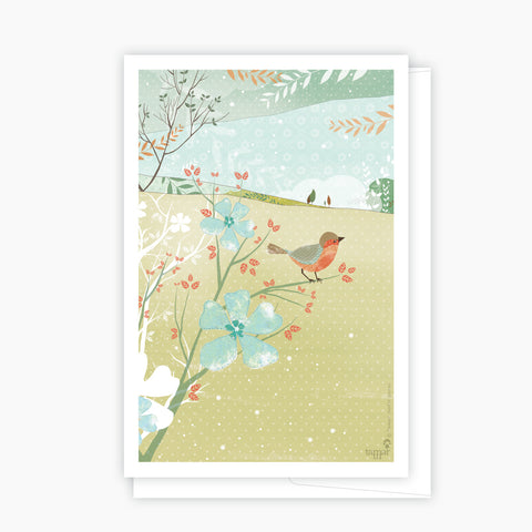 A bird on a branch Green Card