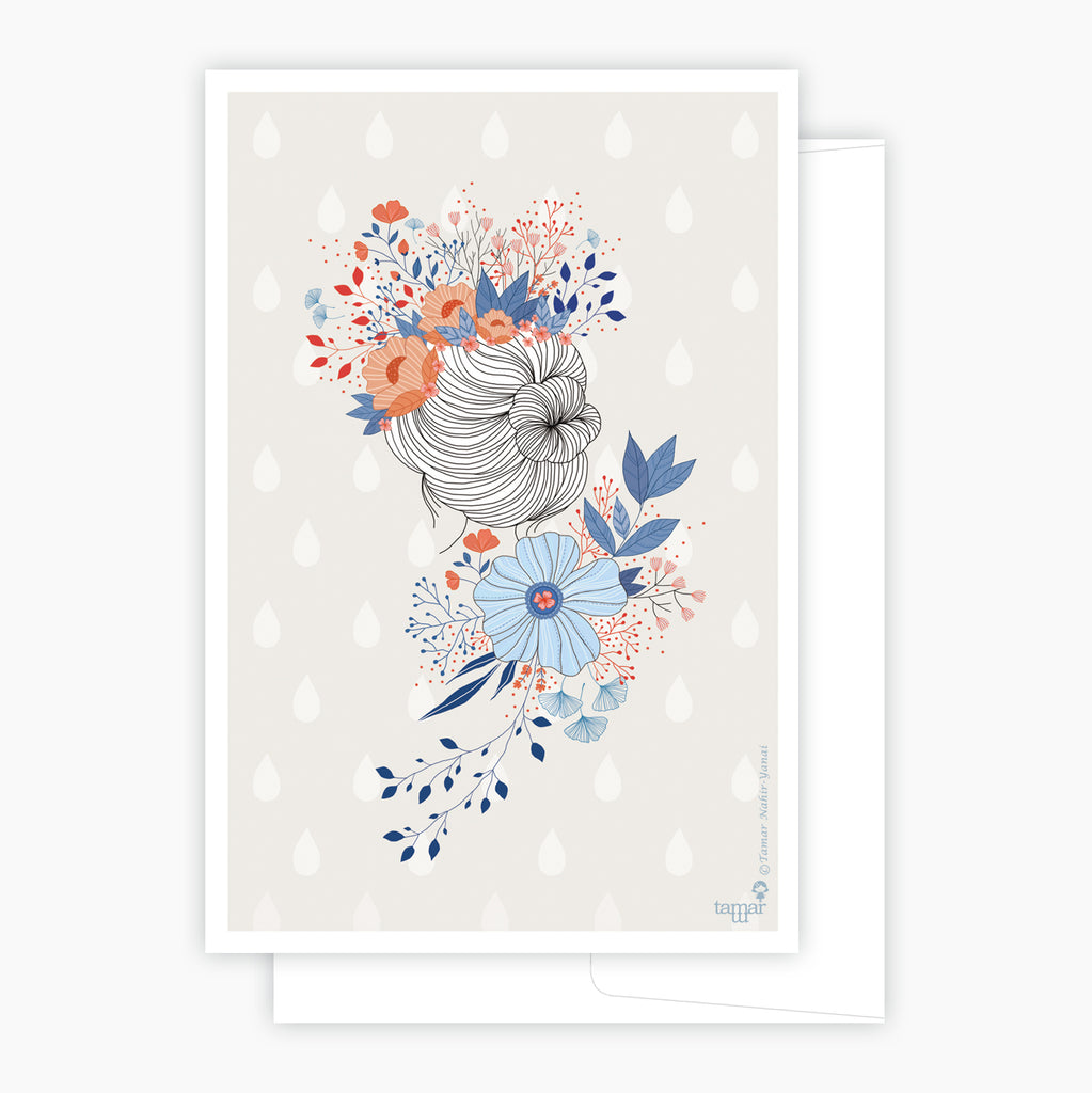 Flower Crown Lady Card