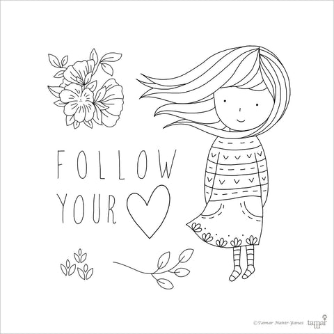 Follow your heart - סט חותמות