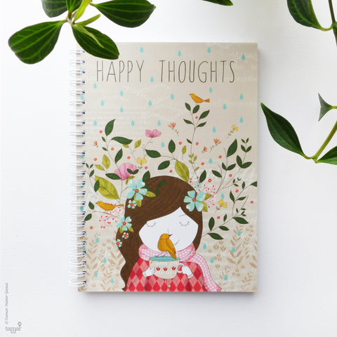 מחברת ספירלה A5 Happy Thoughts