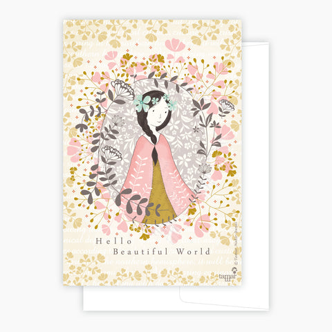 Hello Beautiful World Card