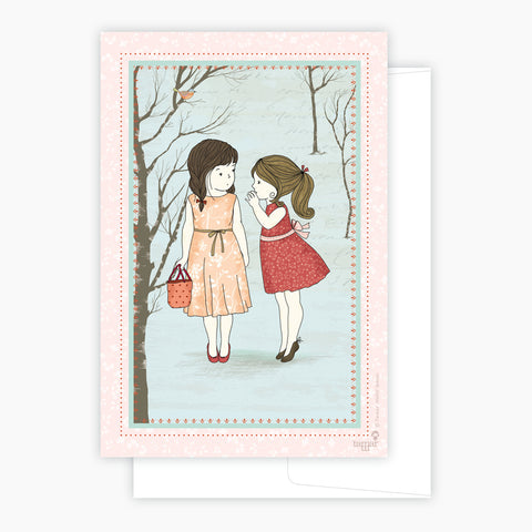 Two Girls and a Secret Card