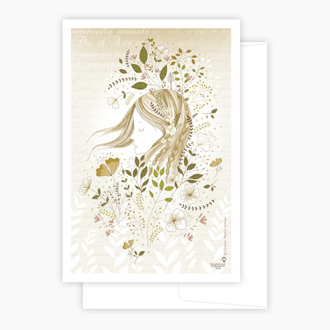 Windy Gold & Gray Card
