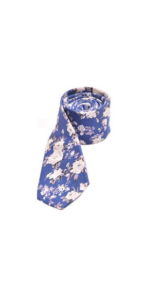 Copy of Copy of Dark Blue Floral Slim Tie