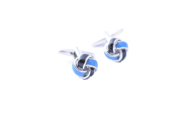 Blue & Black Knotted Cufflinks - Lifeinslowmotion
