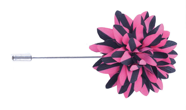 Pink & Black Stripes Lapel Pin