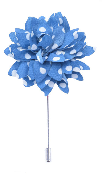 Blue with White dots Lapel Pin