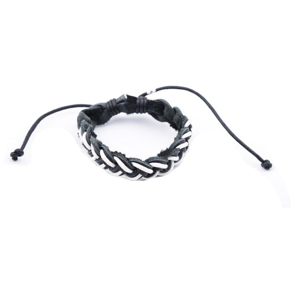 Black & White Braided Bracelet