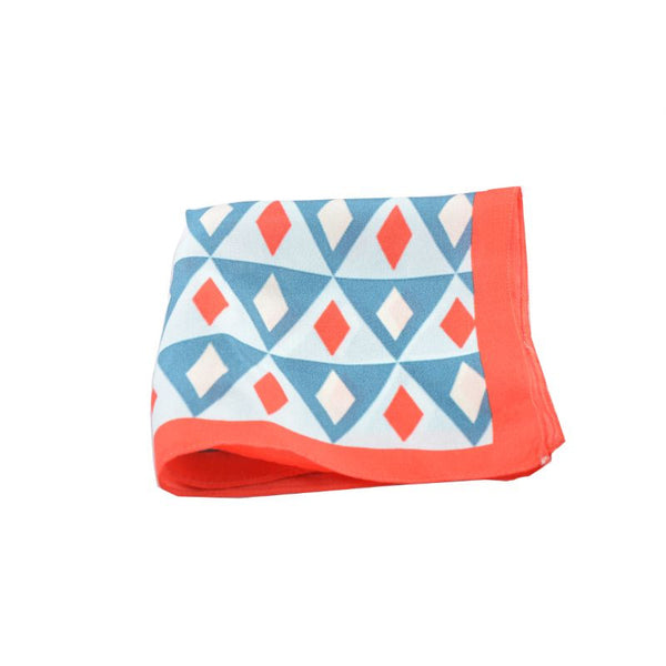 Red & Blue Silk Pocket Square