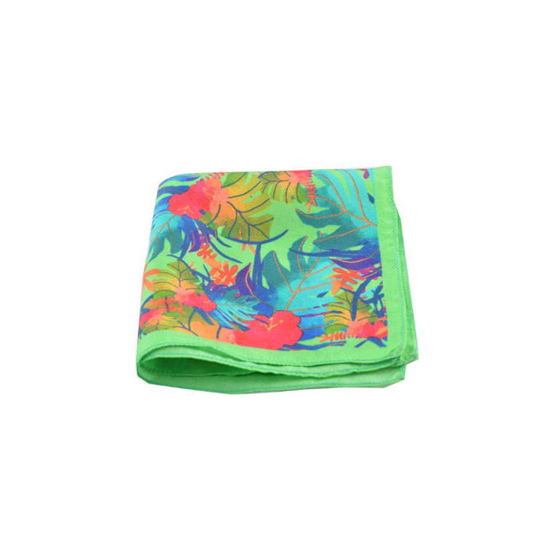 Green Tropical Pocket Square