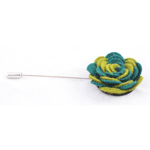 Olive & Green Flower Lapel Pin