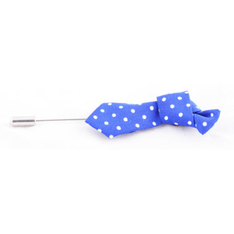 Dark Blue Tie Lapel Pin