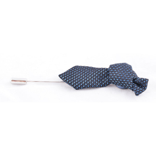Blue Pattern Tie Lapel Pin