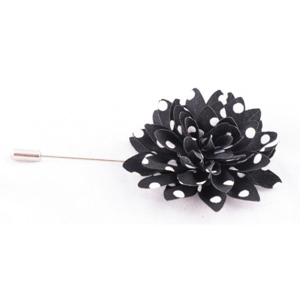 Black with White Stripes Lapel Pin