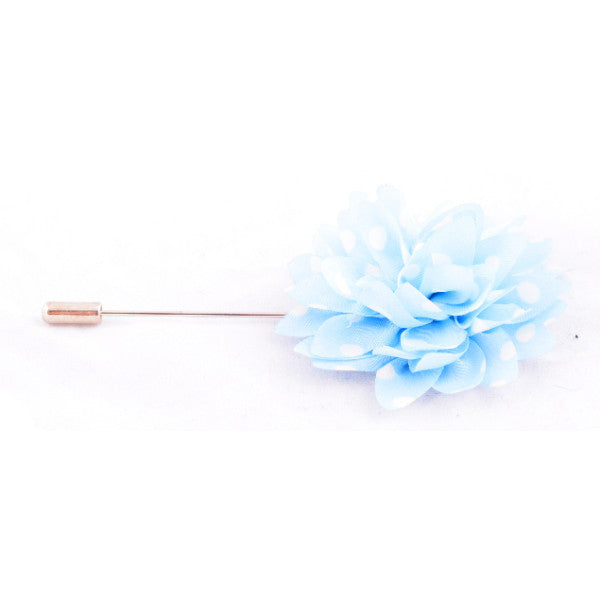 Blue & White Polka Dots Lapel Pin