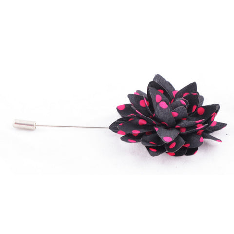 Black With Pink dots Lapel Pin