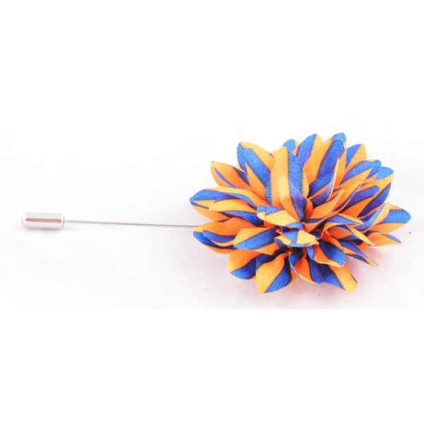 Orange & Blue Stripes Lapel Pin