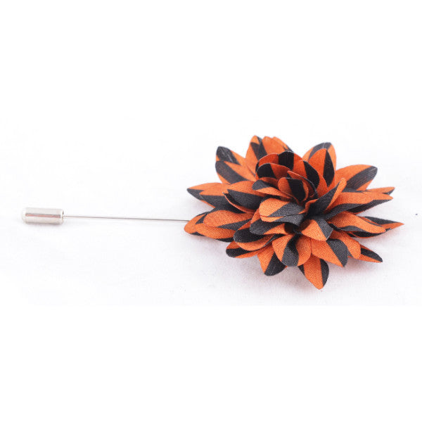 Rust with Black Stripes Lapel Pin