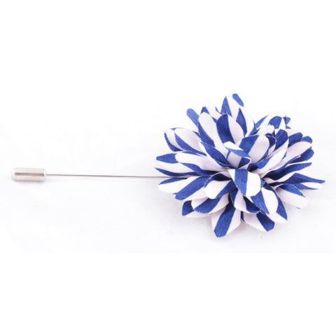 Blue with White Stripes Lapel Pin