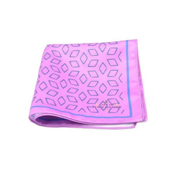 Purple Patterns Pocket Square