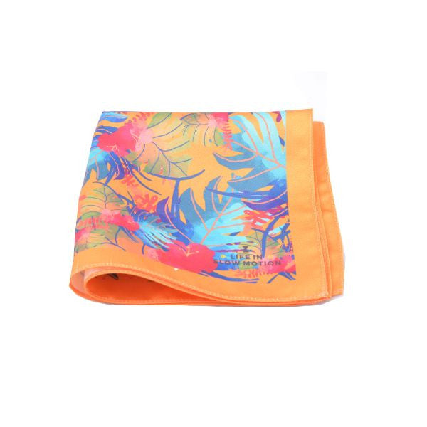 Orange Tropical Pocket Square