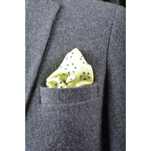 Yellow Patterns Pocket Square