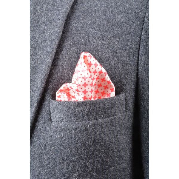 Red Patterns Pocket Square