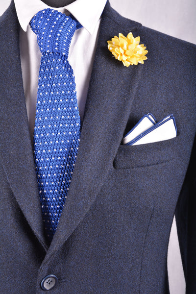 Yellow With White Dots Lapel Pin