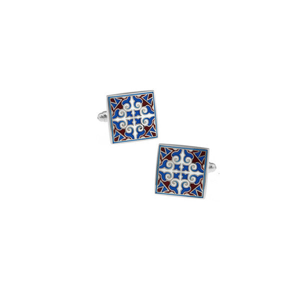 Tile Pattern Cufflinks