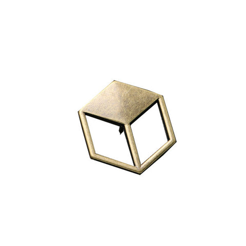 Golden 3D Brooch