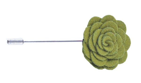 Olive Flower Lapel Pin - Lifeinslowmotion