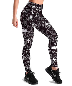 Halloween High Waist Leggins