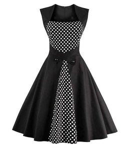 Vintage Goth 1950s Party Dress