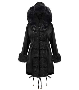 Stylish Black Hooded Coat