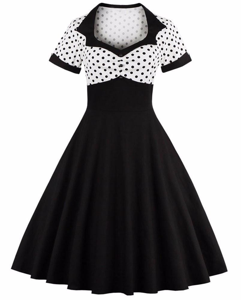 50s Style Goth Pin Up Dress