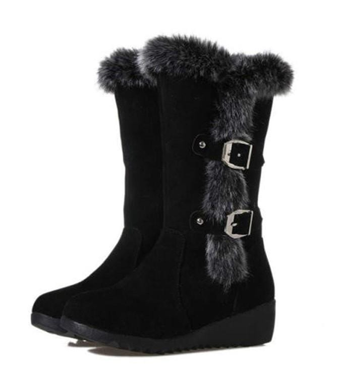 Women Warm Fur Lined Snow Boots