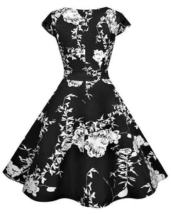 Retro Swing Floral Dress