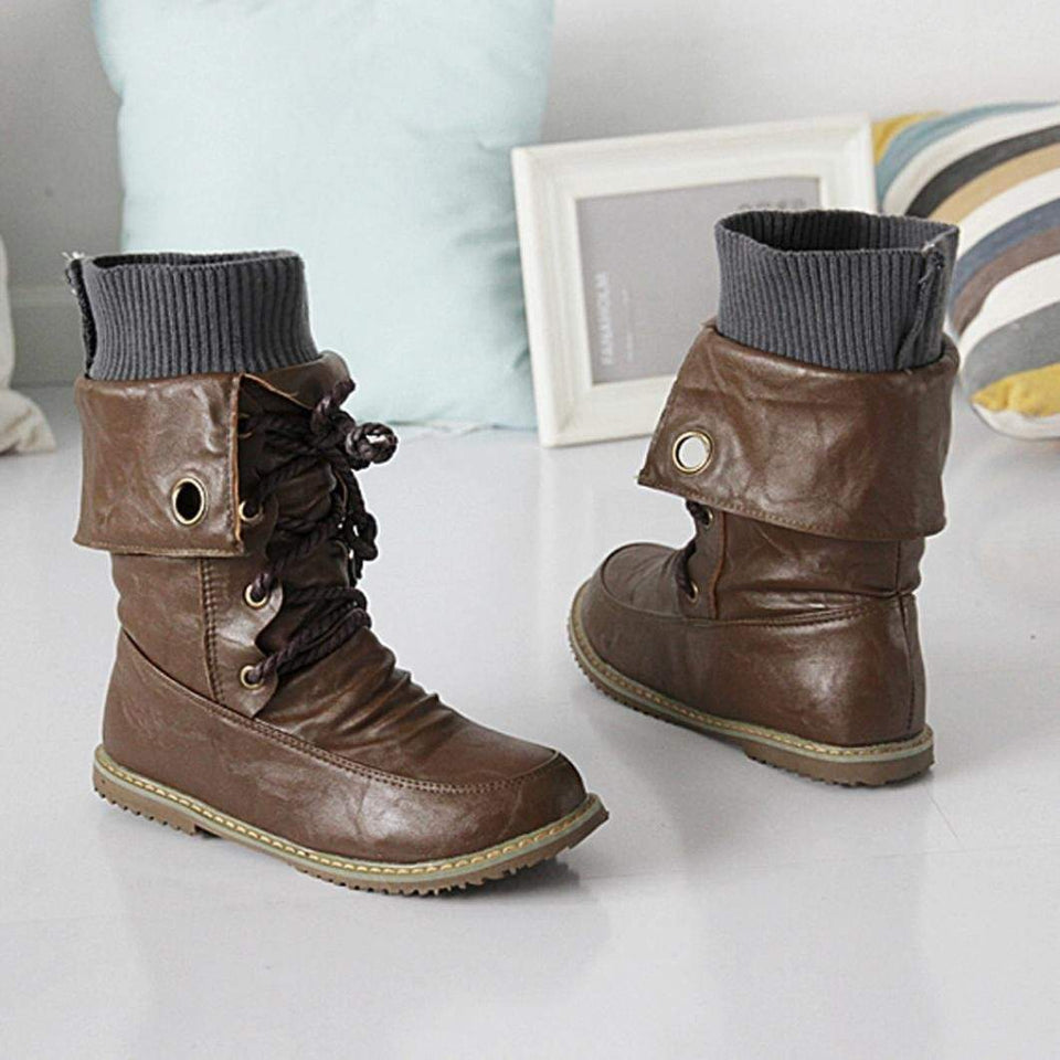 Lace up Fold down Boots