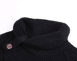 Button Up Chunky Turtle Cowl Neck