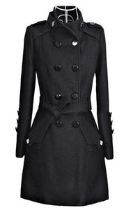 Deadly Woolen Overcoat with Belt