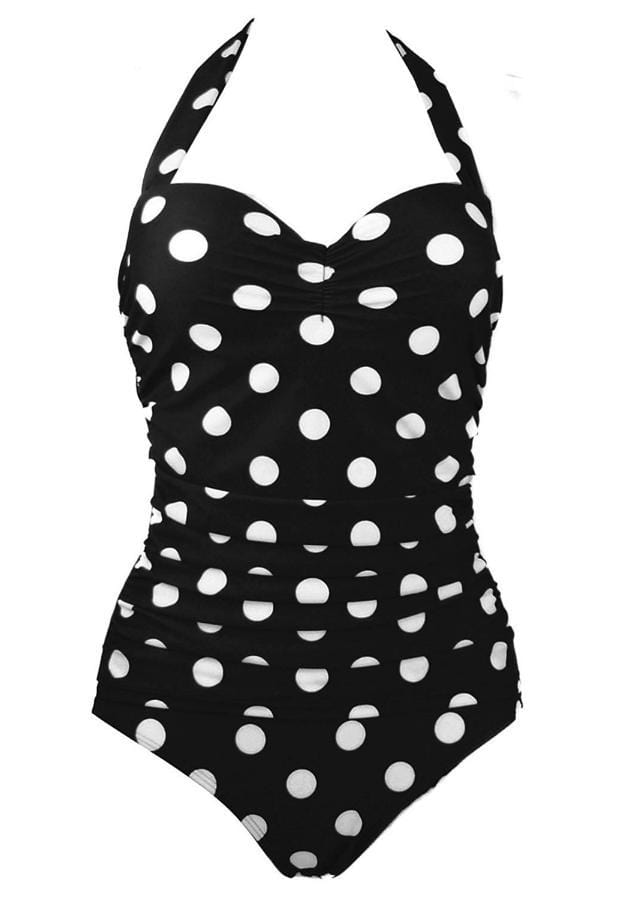 Halter Top Polka Dot Swimsuit