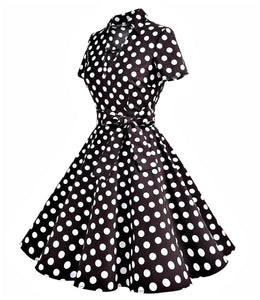 Rockabilly Polka Dot Bow Dress